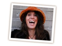 christine arylo orange hat