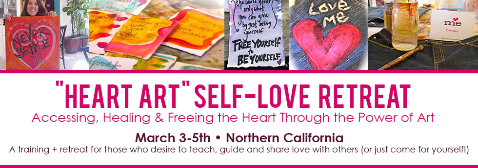 heart art self love retreat