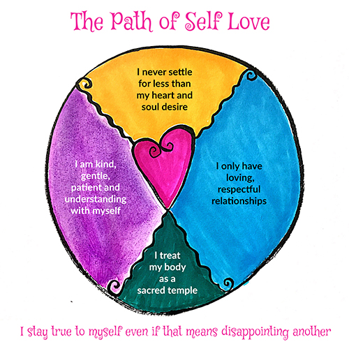 the path of self love i stay true to myself