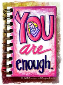 you are enough coloring journal