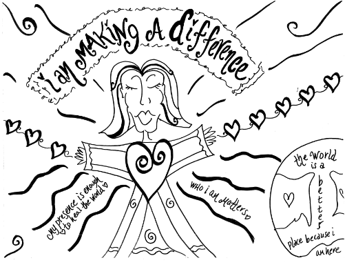 Making A Difference Coloring Page Path of Self Love by Christine Arylo